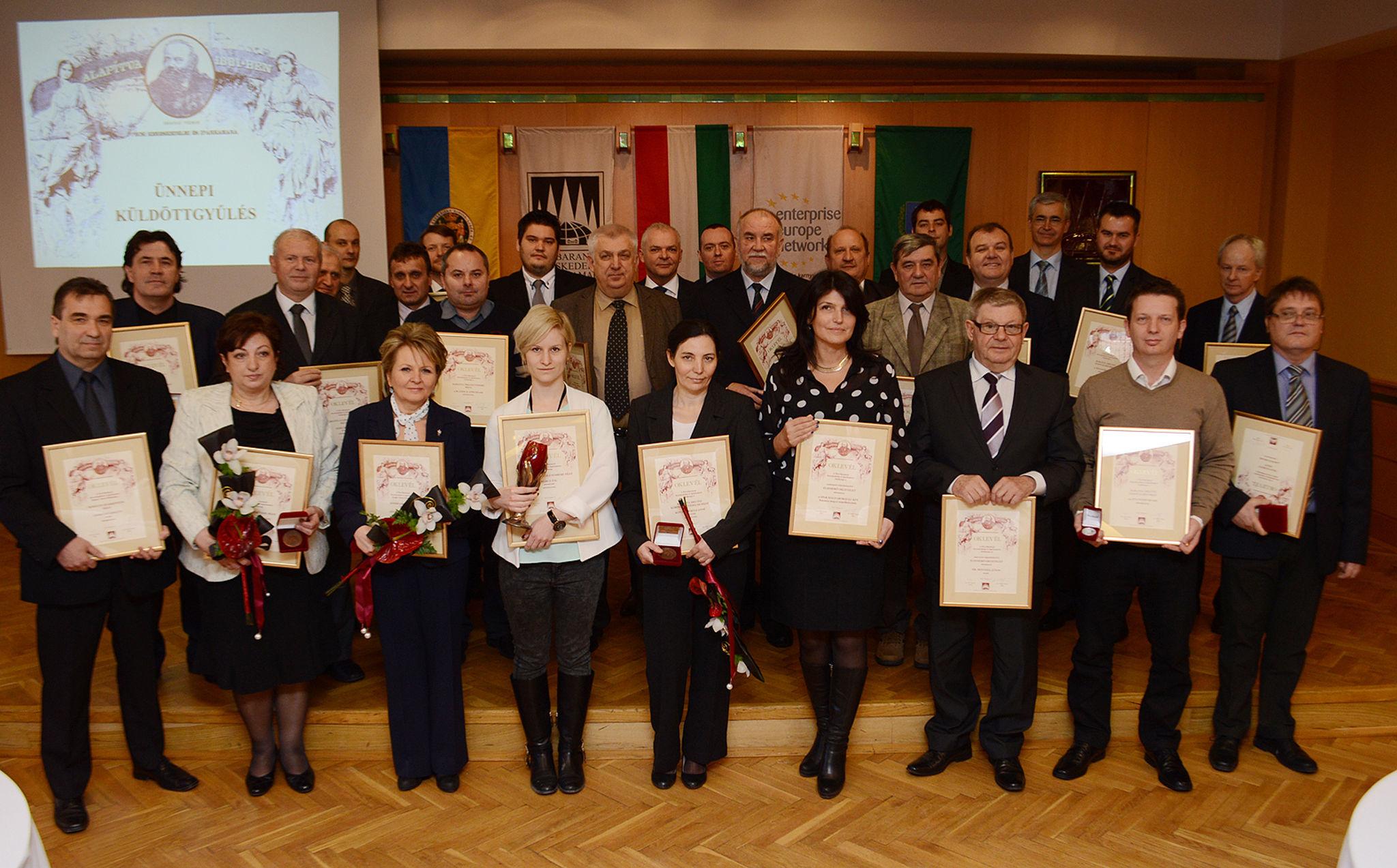 A PBKIK 2014-es díjazottjai