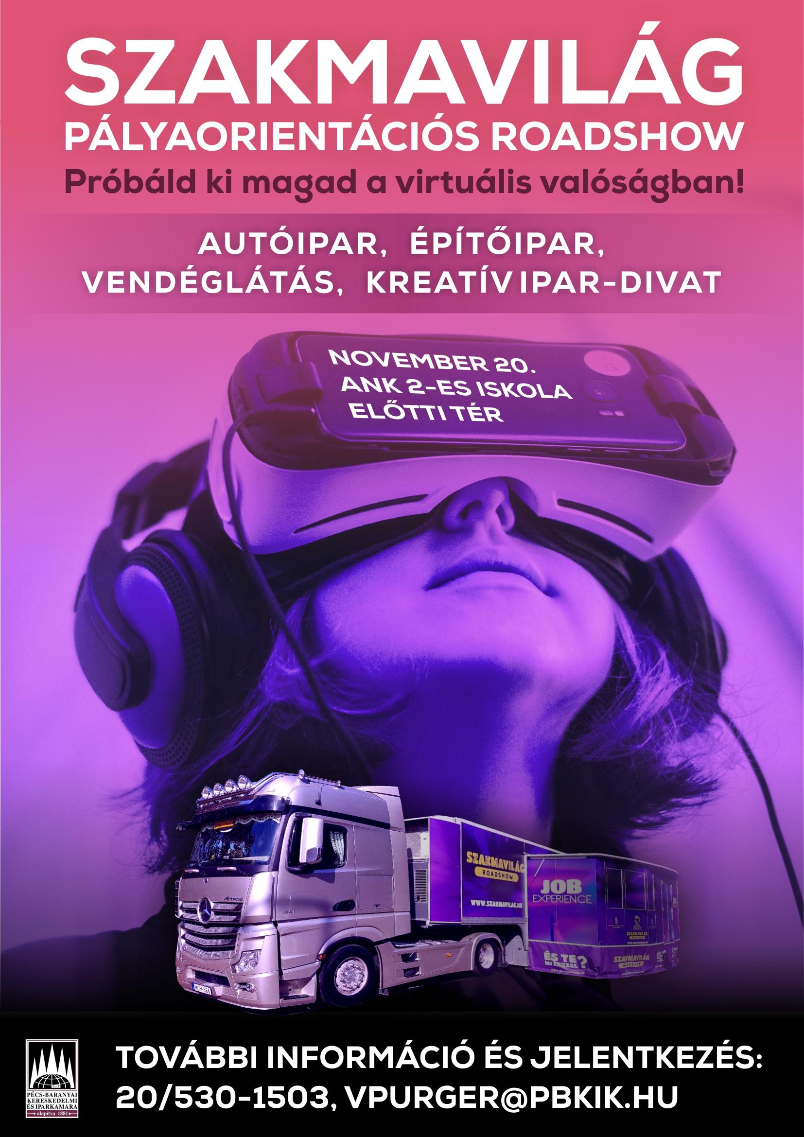 3ea65826f7 Szakmavilág pályaorientációs roadshow - szakmák VR szemüvegen keresztül! -  Pécs-Baranyai Kereskedelmi és Iparkamara