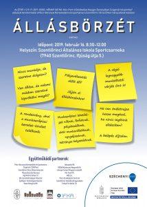A szentlőrinci állásbörze plakátja