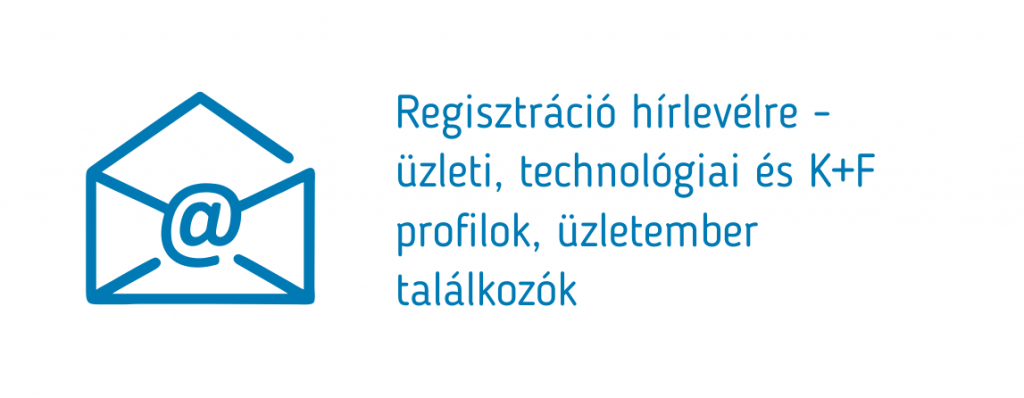 Regisztráció hírlevélre - üzleti, technológiai és K+F profilok, üzletember találkozók